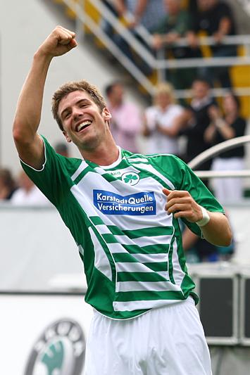 Jan Mauersberger bejubelt das 4:0