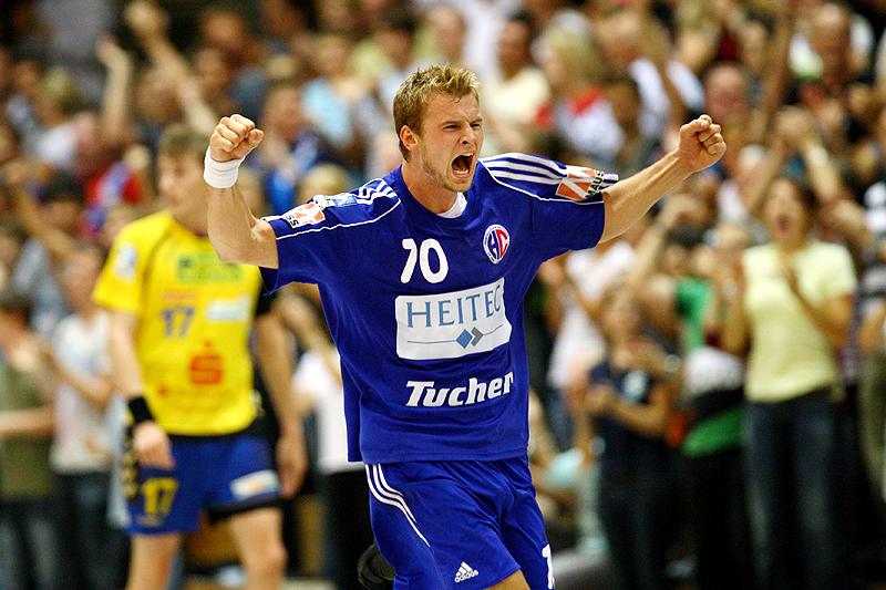 Bastian Krämer bejubelt euphorisch ein Tor