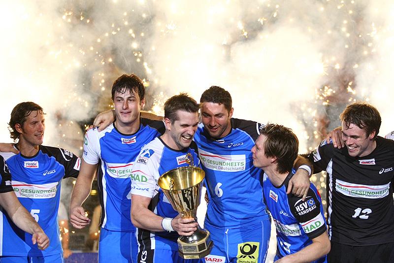 Jubel beim HSV über den Gewinn des LoS-Supercup