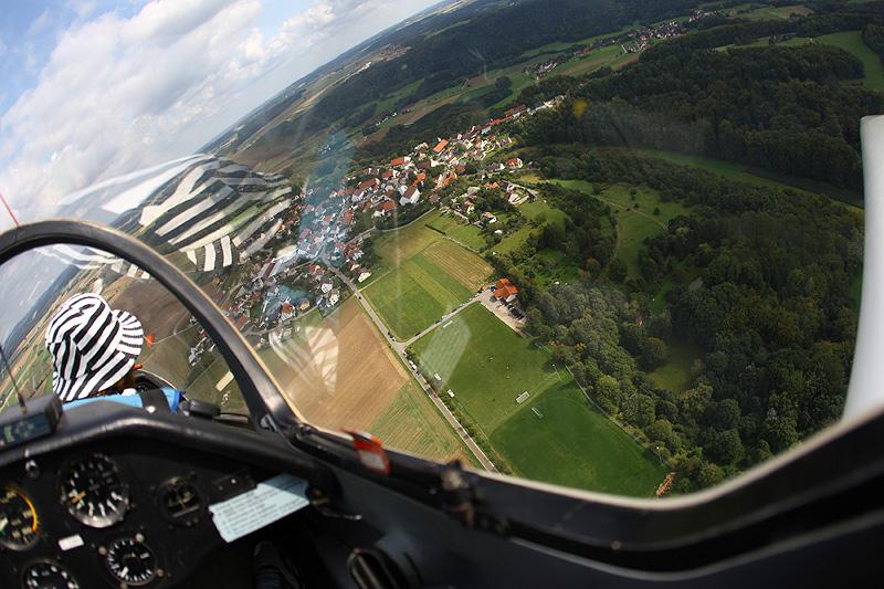 Blick aus der Co-Pilotenperspektive