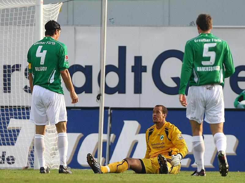 Die Abwehr mit Torwart Stephan Loboue, Jan Mauersberger und dem Sündbock des Tages Marino Biliskov, der heftig von den Fans ausgepfiffen wurde