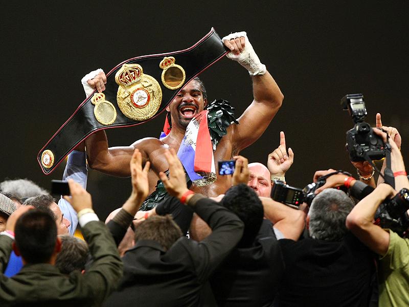 David Haye jubelt über den Gewinn des WBA-Weltmeistertitels