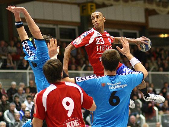 Guillaume Laout bei einem seiner vier Treffer für den HCE