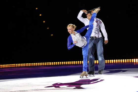 Aljona Savchenko und Robin Szolkowy bei ihrer Kür