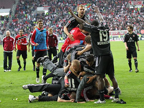 Grenzenloser Jubel des Nürnberger Teams