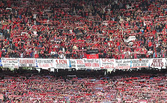 Optimistische Nürnberger Fans verstummten aber auch recht schnell, nachdem klar war, dass Hannover deutlich gegen Bochum führte
